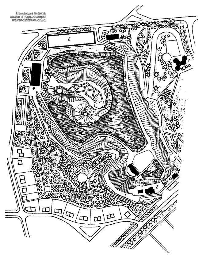 Схема планировки парка в г.